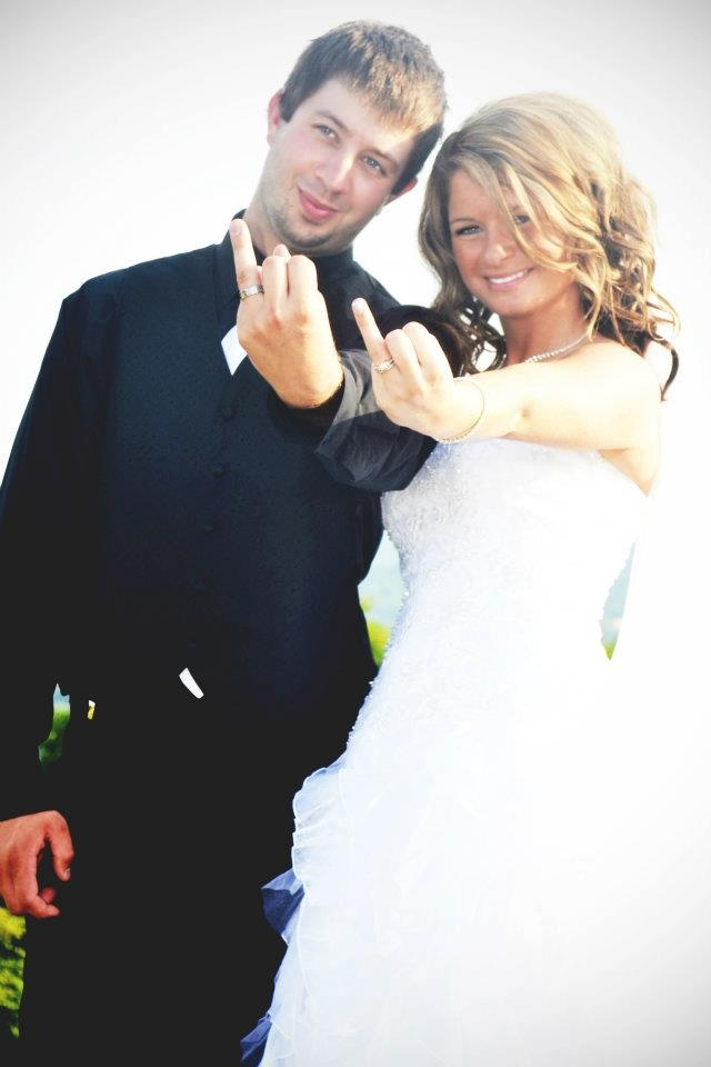 Bride and Groom Funny Pose