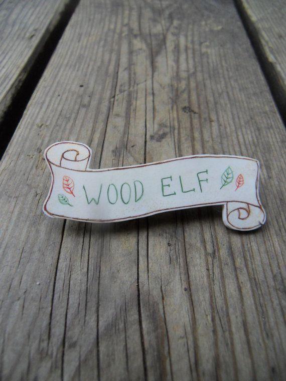 Wood Elf Shrink Plastic Brooch Banner by LisyCorner on Etsy