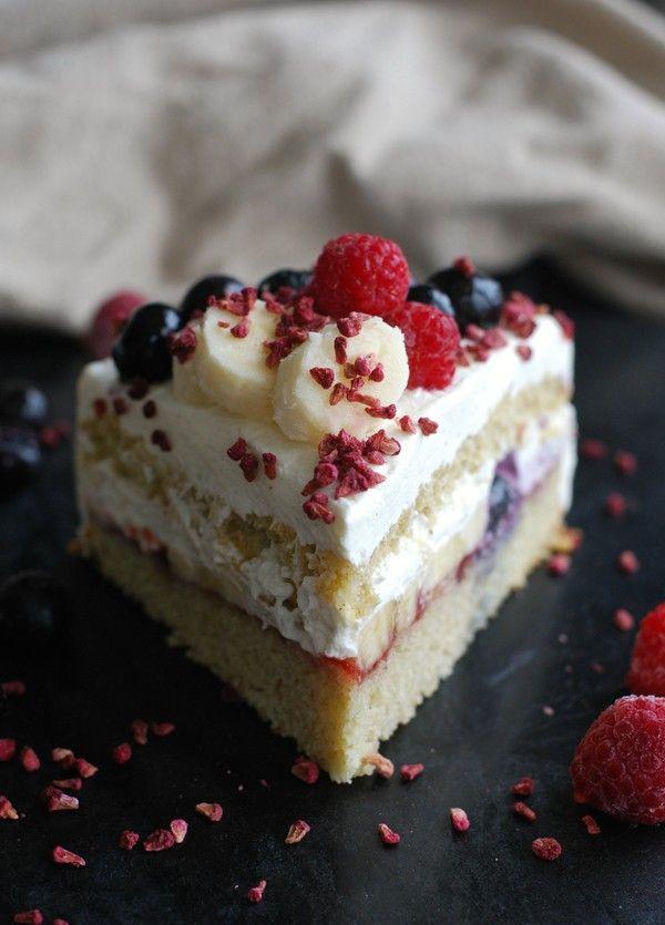 Somrig gräddtårta (glutenfri, utan tillsatt socker) //Baka Sockerfritt