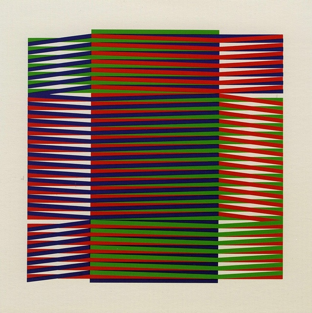 Carlos Cruz-Diez  Additive Color: Denise Rene series Paris 1971