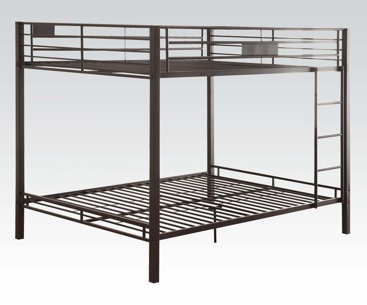 Checkout the queen size bunk beds on eFurnitureHouse.com including the Cambridge Black Queen over Queen Metal Bunk Bed