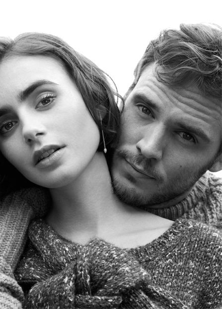 Lily Collins & Sam Claflin - Photo shoot for Net-a-Porter's online magazine The Edit, October 2014 - Love, Rosie directed by  Christian Ditter (2014) #ceceliaahern