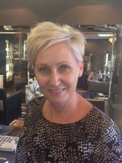 a longer version of the pixie cut, with colour and some styling done by chantal