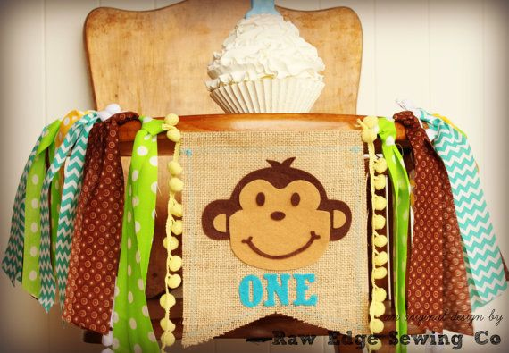 Hey, I found this really awesome Etsy listing at https://www.etsy.com/listing/486178609/monkey-birthday-banner-highchair-high