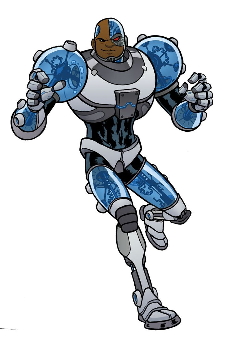 Cyborg comic drawings | Teen Titans Cyborg
