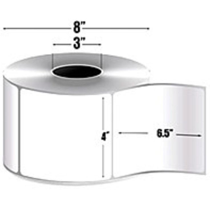 Zebra Label Paper 4 x 6.5in Thermal Transfer Zebra Z-Perform 2000T 3 in core - Permanent Adhesive - 4 Width x 6.50 Length - 900 - Roll - 3 Core - Thermal Transfer - White - Paper, Acrylic - 4 - Roll