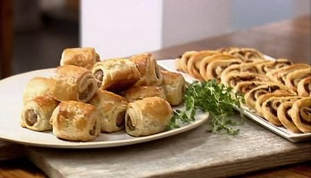 How to make simple puff pastry canap s by lorraine pascale for Easy canape fillings