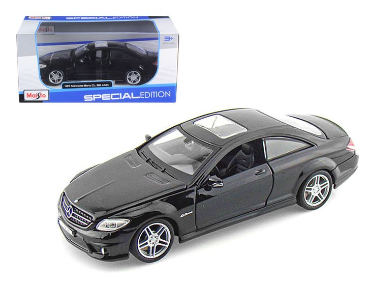 Mercedes CL63 AMG Black 1/24 Diecast Model Car by Maisto - Brand new 1:24 scale diecast car model Mercedes CL 63 AMG Black die cast car by Maisto. Brand new box. Rubber tires. Has opening hood and doors. Made of diecast with some plastic parts. Detailed interior, exterior, engine compartment. Dimensions approximately L-8, W-3.25, H-2.25 inches. Please note that manufacturer may change packing box at anytime. Product will stay exactly the same.-Weight: 2. Height: 6. Width: 11. Box Weight: 2…