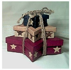 PICTURES OF PAPER MACHE BOXES DECORATE | STAR BOX SET (3) SMALL $15.95