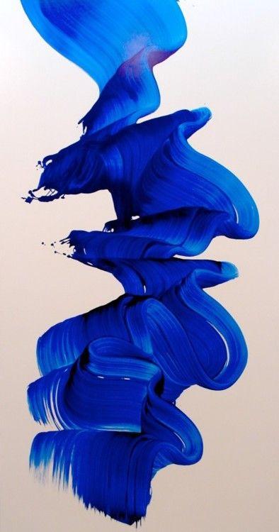 James Nares Modrá jako velký pruh látky