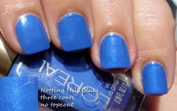 L'oreal Nail Color in Nottting Hill Blues - A Blue Shimmer: L Oreal Nails, Nail Polish, Blue Nails Polish, Blue Shimmer, Loreal Nails, Nails Color, Beauty, Blog, Pastel Nails Polish