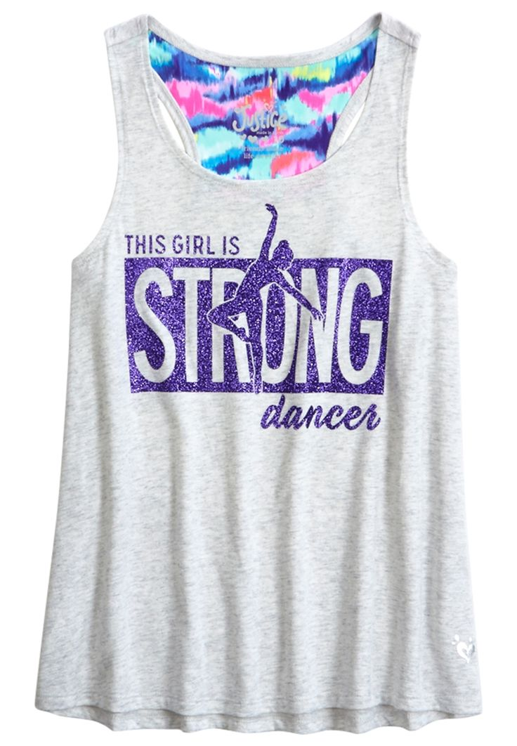 Racerback Tank (original price, $19.99) available at #Justice
