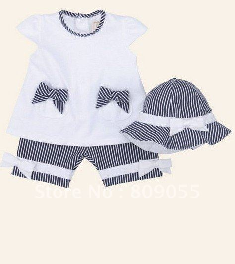 Cute Baby Clothes | 2012 cute baby girls clothing set(t shirt+short