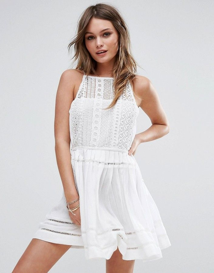 $32 - ASOS - Boohoo Crochet Tassel Sun Dress 2017 fashion trends for spring & summer. great for white party (affiliate)