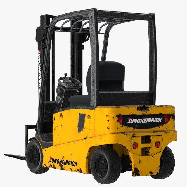 Forklift Jungheinrich 02 3D Model .max .c4d .obj .3ds .fbx .lwo .stl @3DExport.com by souhail3d