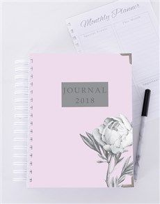 gifts: Personalised Budding Rose Journal!