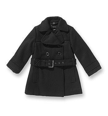 Mantel - Esprit - Kindermode: Fashion für Kids - © Esprit Ein besonders schicker Auftritt ist kleinen Mädchen in diesem Mantel aus Filzwolle von Esprit garantiert. Stilechte Details wie die zweireihige Knopfleiste...