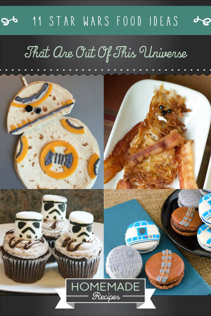 11 Star Wars Food Ideas That Are Out Of This Universe | http://homemaderecipes.com/entertaining/parties-gatherings/11-star-wars-food-ideas/