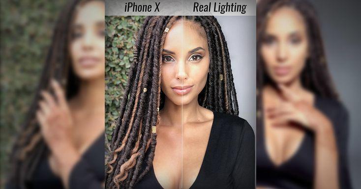 iPhone X против студийного света