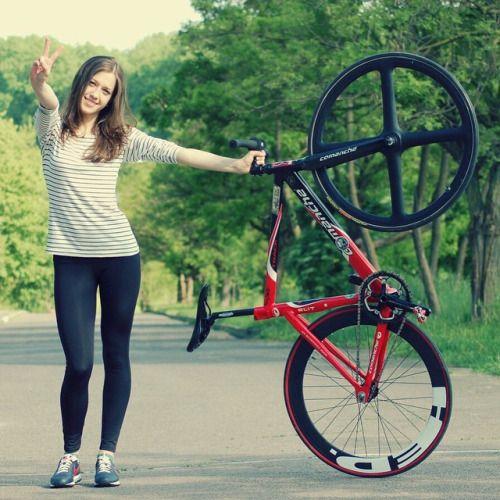 bikes-bridges-beer: #Fixie #bike #girl #hed #wheels via ...