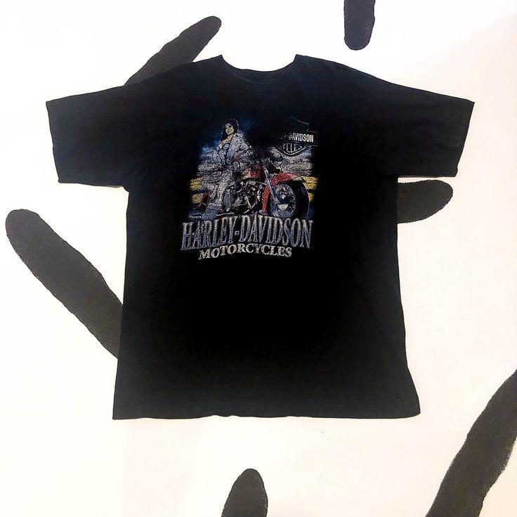 90s harley davidson t shirt faded babe biker size