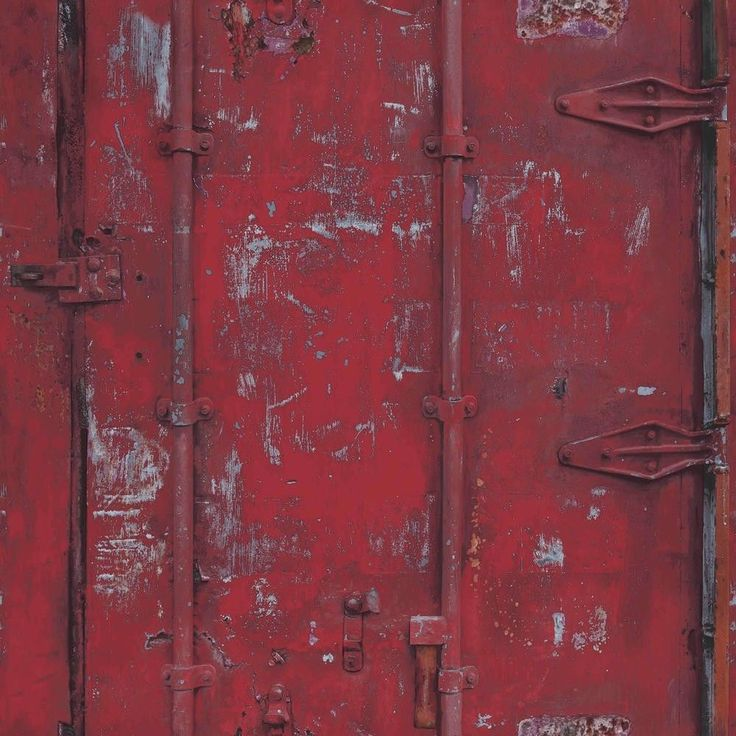Alte Tapete Unter Vliestapete : Tapete Grandeco Exposed Warehouse Vintage Container Metall 3D rot