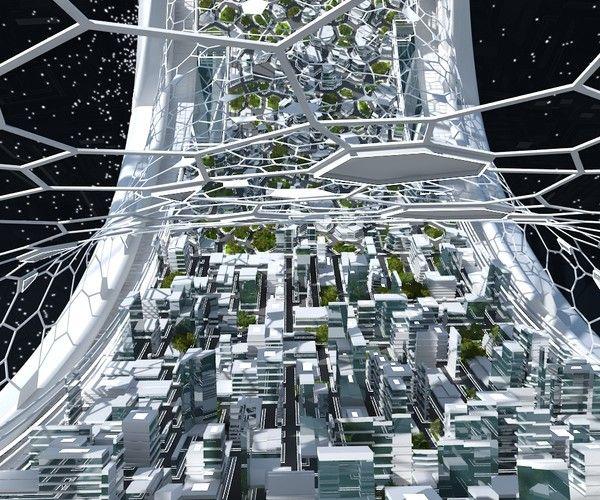 Space Colony In 2020 Futuristic City Fantasy City Architecture Graphics