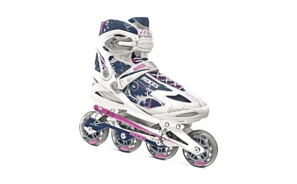 Sensacionales patines Roces en línea diseñados en aluminio con rodamiento ABEC 5.