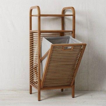 Bamboo Laundry Hamper, Ritz   Modern   Bathroom Storage   West Elm