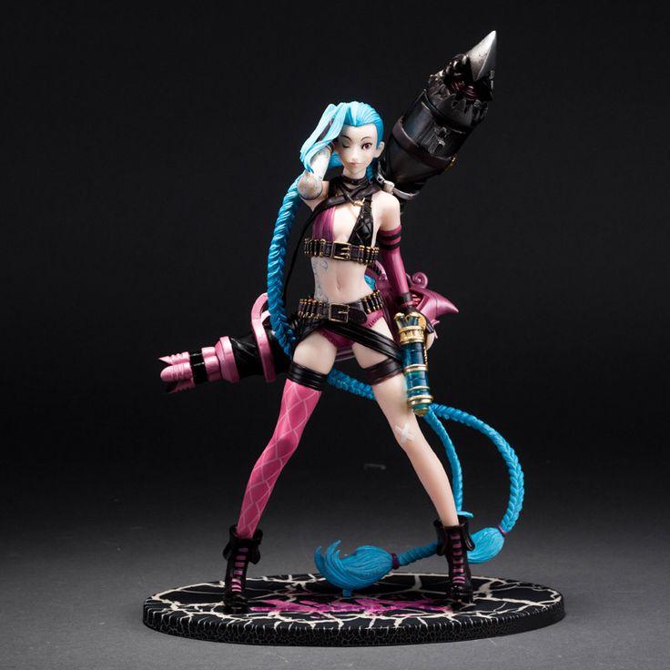 "Lol caja Original 10 "" 24 cm Jinx figuras de acción juego Anime PVC modelo de recogida de juguetes"