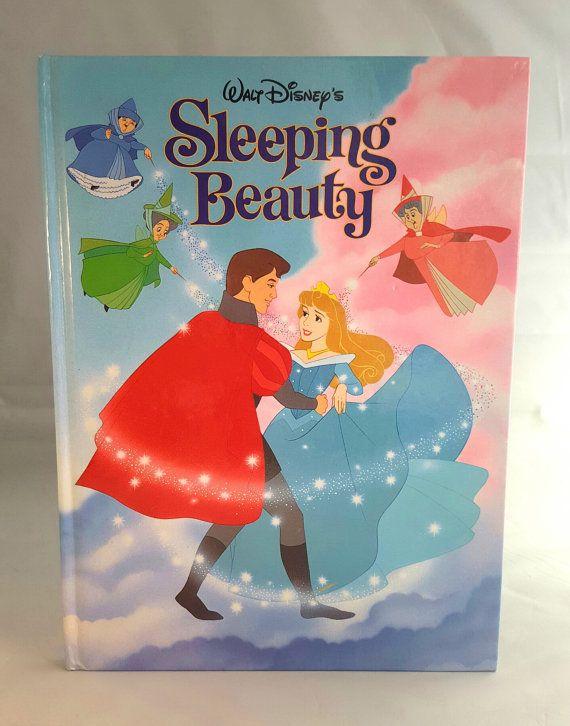 Walt Disneys Sleeping Beauty Hard Cover Storybook 1993 Large