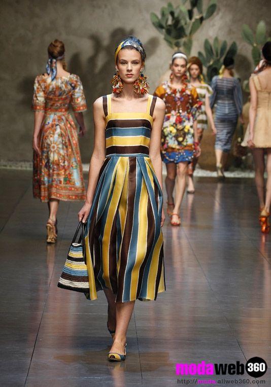 Dolce e Gabbana donna, collezione primavera-estate 2013, foto ...
