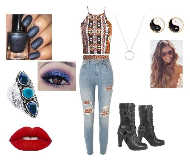 """""""clothes 355"""" by bellskids on Polyvore featuring Halogen, Roberto Coin, Mudd, Palm Beach Jewelry, River Island and Sans Souci"""