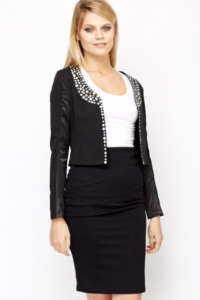Studded Crop Jacket