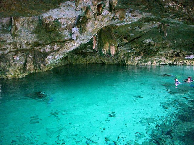 Caving at Hidden Worlds One of the best adventure parks in Mexico, Hidden Worlds Cenote can be visited from Cancun's main resorts, and combines underwater caving and sea-life with zip wire and forest exploration.