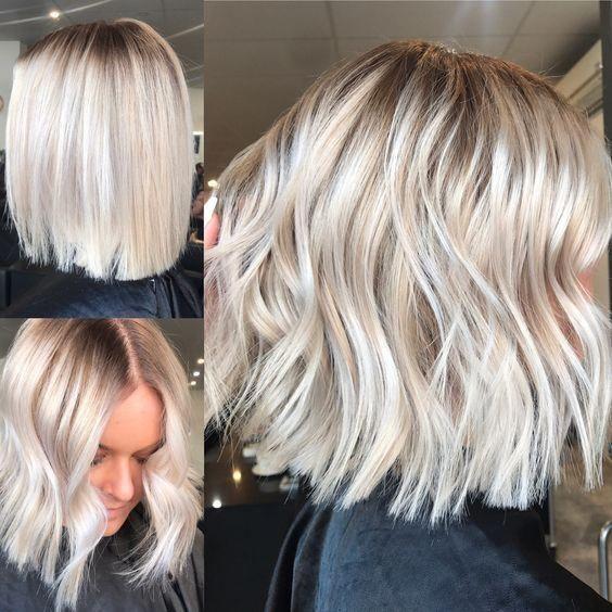 Mittellange Frisuren Kurze Frisuren Blondes Haar Aschblond Eisblond Haarschnitt Kurz Eisblond Platinblond