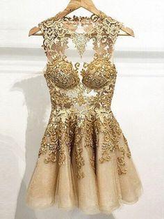 Goldene kleider damen