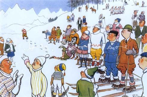 The Man Who Threw a Snowball at St. Moritz   HM Bateman