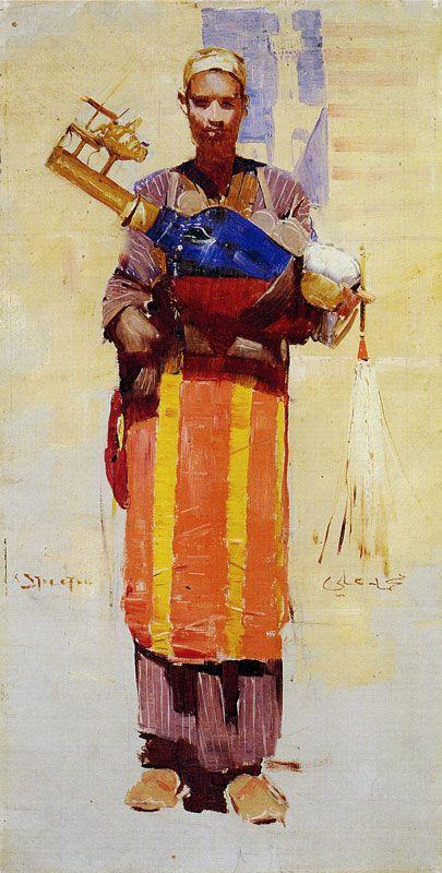 Arthur Streeton - A seller of drinks