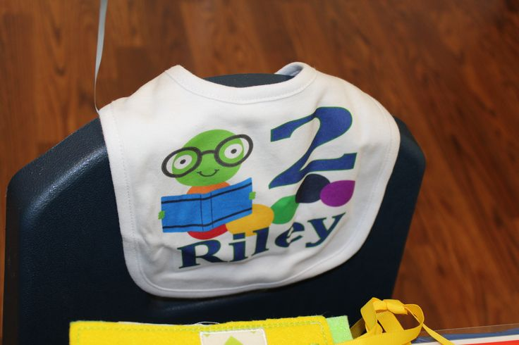 Bookworm Birthday Bib