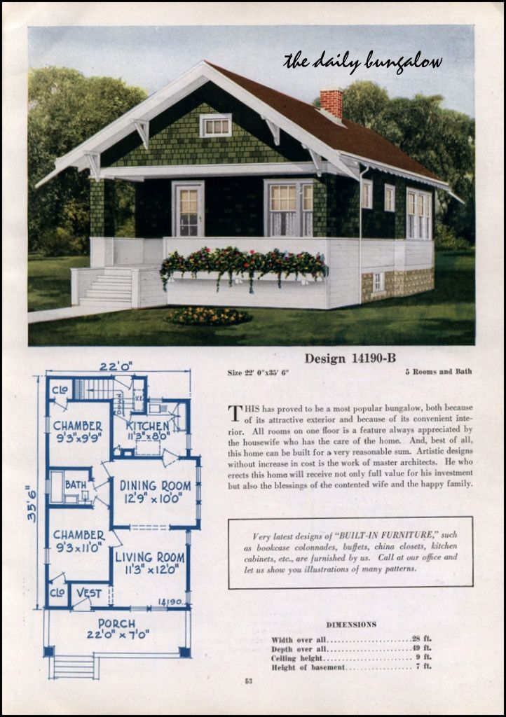 1925 26 C L Bowes House Plans Cottage Bungalow House Plans Cottage House Plans Craftsman Style Bungalow