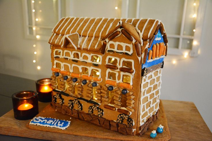 Make a look alike gingerbread house of your kids's school and donate it to the Xmas Bazaar Lottery.