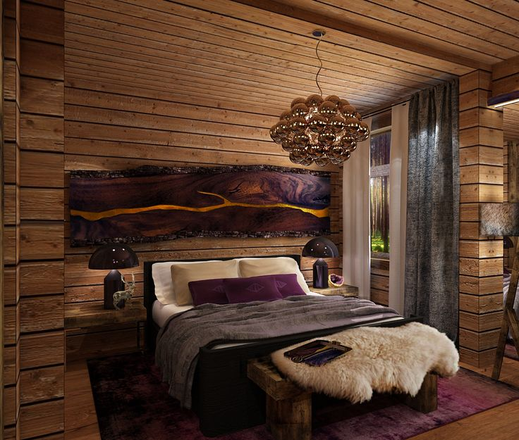 Northern house in the country. Master bedroom. Made in a cooperation with People MA architecture and construction.
