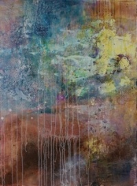 Deb Chaney, SCA is a contemporary artist creating large abstract paintings on canvas and paper. Using brushes, palette knives, and rags, she applies and scrapes away acrylics, mixed medias, sand, and collage elements to create her highly textured, multi layered art pieces.