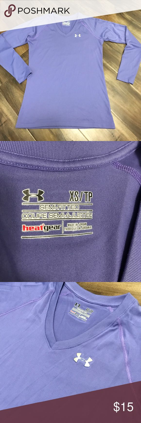 Under Armour purple top Gently used. Perfect condition. True to size! Under Armour Tops