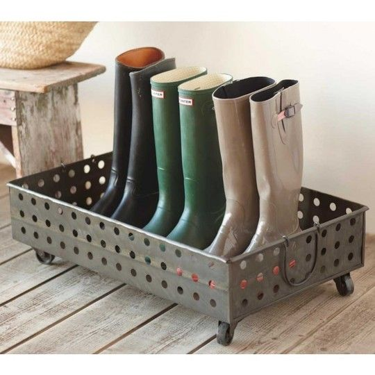 boot trays: this is cute regardless of the fact that it never snows where I live