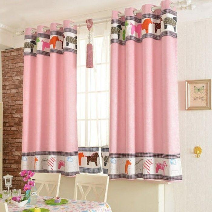 die besten 25 gardinen rosa ideen auf pinterest wohnzimmergardinen kinderzimmer gardinen und. Black Bedroom Furniture Sets. Home Design Ideas