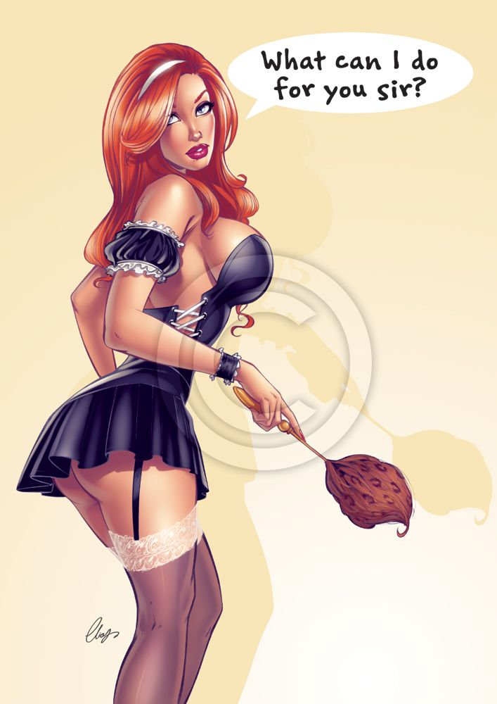 Sexy+Chambermaid+by+Elias-Chatzoudis.deviantart.com+on+@deviantART