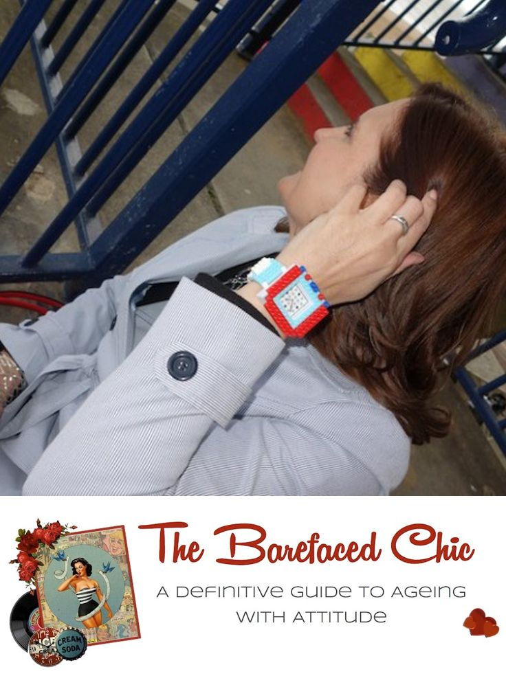 Michelle shows us how to add a little bit if fun to our outfit with #Nanoblock http://thebarefacedchic.co.uk/fashion/a-nanoblock-watch-pale-blue-jacket-and-red-shoes/