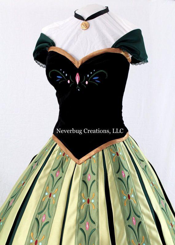 Snow Princess Anna Coronation Costume by NeverbugCreations on Etsy, $1800.00